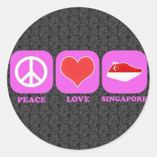 平和愛シンガポール ラウンドシール