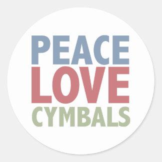 平和愛シンバル ラウンドシール