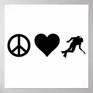 平和愛スキューバダイビング ポスター