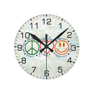 平和愛スマイル ラウンド壁時計