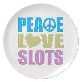 平和愛スロット プレート