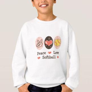 平和愛ソフトボールはスエットシャツをからかいます スウェットシャツ