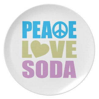 平和愛ソーダ プレート