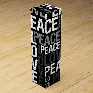 平和愛タイポグラフィ ワインギフトボックス