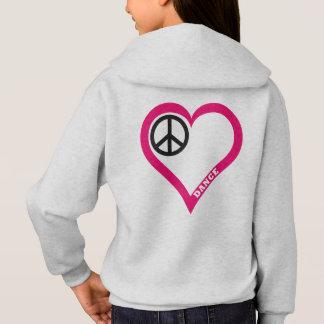平和愛ダンスの女の子のワイシャツのフード付きスウェットシャツをカスタマイズ