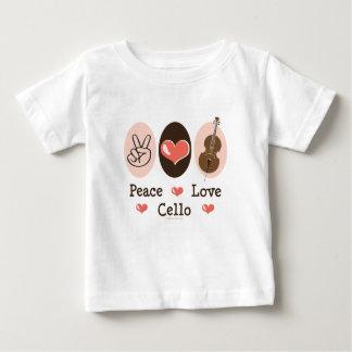 平和愛チェロのベビーのTシャツ ベビーTシャツ