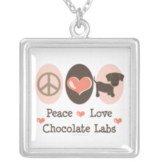 平和愛チョコレート実験室のネックレス シルバープレートネックレス