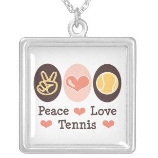 平和愛テニスの純銀製のネックレス シルバープレートネックレス