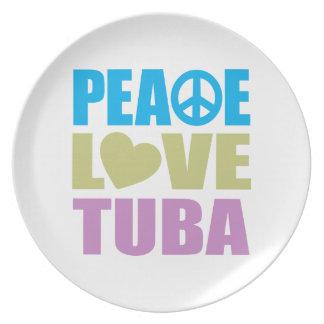 平和愛テューバ プレート