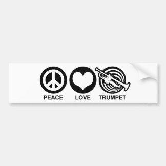 平和愛トランペット バンパーステッカー