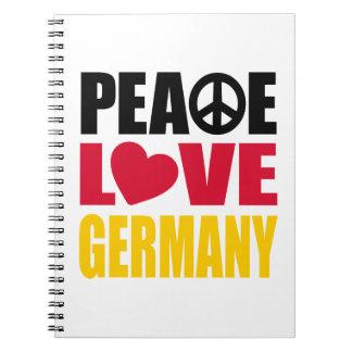 平和愛ドイツ ノートブック