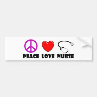 平和愛ナース バンパーステッカー
