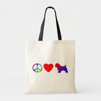 平和愛ノーフォークテリア トートバッグ