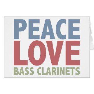 平和愛バスクラリネット グリーティングカード
