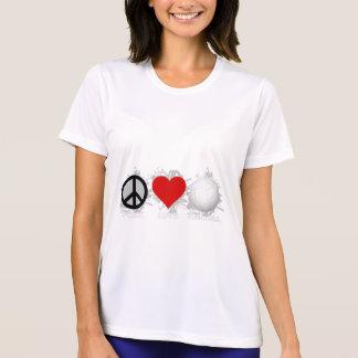 平和愛バレーボールの紋章1 Tシャツ