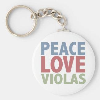 平和愛ビオラ キーホルダー