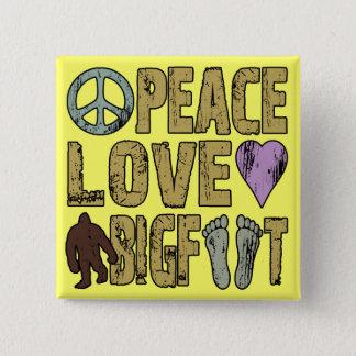 平和愛ビッグフット 5.1CM 正方形バッジ