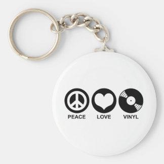 平和愛ビニール ベーシック丸型缶キーホルダー