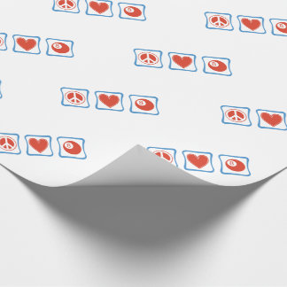 平和愛ビリヤードの正方形 ラッピングペーパー