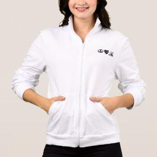 平和愛ピット・ブルのスタイリッシュな軽量のジャケット