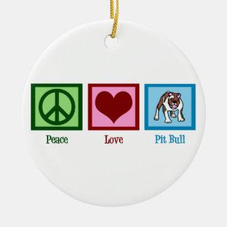 平和愛ピット・ブル セラミックオーナメント