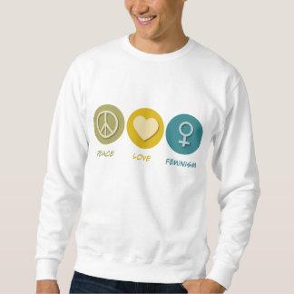 平和愛フェミニズム スウェットシャツ