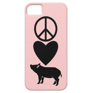 平和愛ブタのiPhone 5のやっとそこに場合 iPhone SE/5/5s ケース