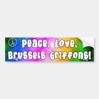 平和愛ブリュッセルGriffonsのバンパーステッカー バンパーステッカー
