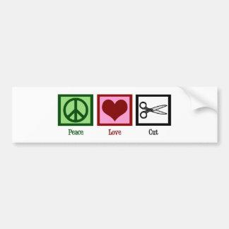 平和愛ヘアカット バンパーステッカー