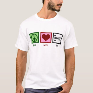 平和愛ヘアカット Tシャツ