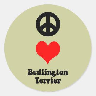平和愛ベドリントン・テリア ラウンドシール