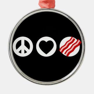 平和愛ベーコン メタルオーナメント