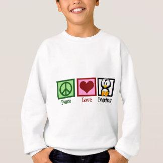 平和愛ペンギン スウェットシャツ