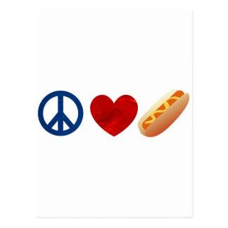 平和愛ホットドッグ ポストカード