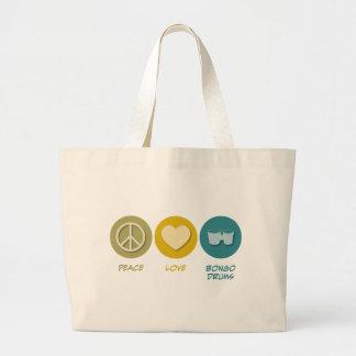 平和愛ボンゴ ラージトートバッグ