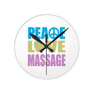 平和愛マッサージ ラウンド壁時計
