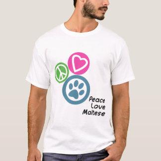平和愛マルチーズ Tシャツ
