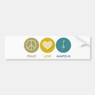 平和愛マンドリン バンパーステッカー
