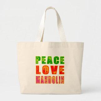 平和愛マンドリン ラージトートバッグ