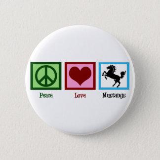 平和愛ムスタング 5.7CM 丸型バッジ