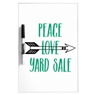 平和愛ヤードセールの矢ライン ホワイトボード