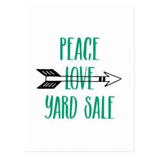 平和愛ヤードセールの矢ライン ポストカード