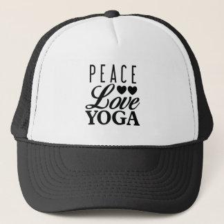 平和愛ヨガのトラック運転手の帽子 キャップ