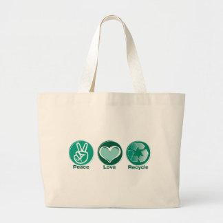 平和愛リサイクル ラージトートバッグ