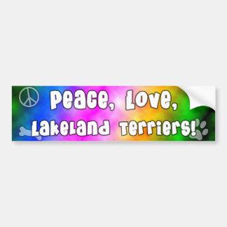 平和愛レークランドテリアのバンパーステッカー バンパーステッカー