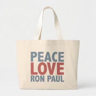 平和愛ロン・ポール ラージトートバッグ