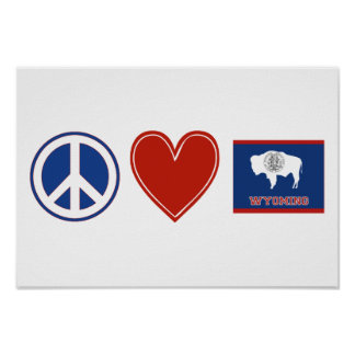 平和愛ワイオミング ポスター