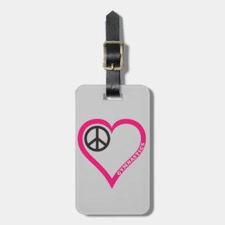 平和愛体操の荷物のラベルをカスタマイズ ラゲッジタグ