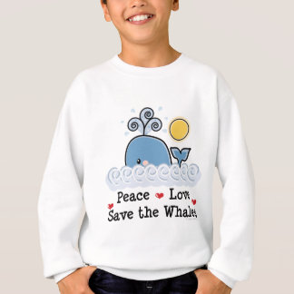 平和愛保存クジラの子供のスエットシャツ スウェットシャツ