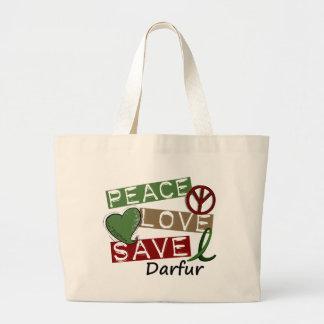 平和愛保存ダルフール ラージトートバッグ